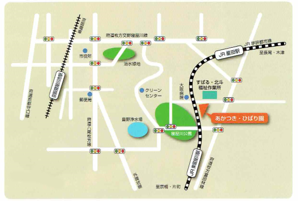 あかつき・ひばり園 地図